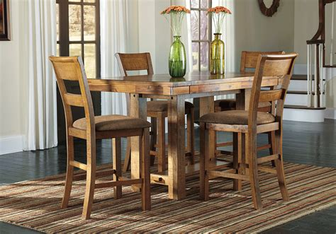 Bar Height Dining Room Table Sets Krinden Counter Height Dining Table And 4 Chairs
