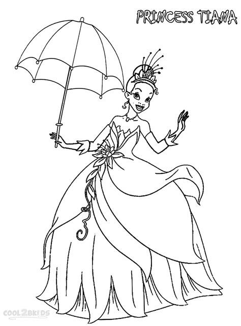 printable princess tiana coloring pages  kids coolbkids
