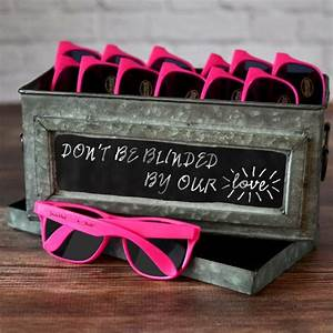 personalized hot pink frame sunglasses party favors the With sunglasses for wedding favors
