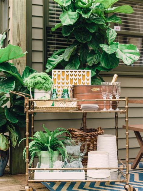 outdoor bar cart ideas hgtv