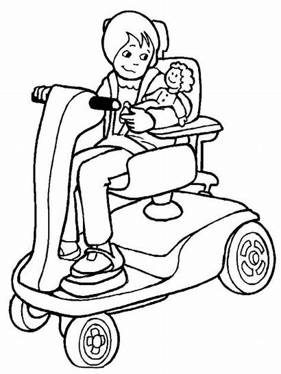 Coloring Disability Pages Care Disabilities Mother Take