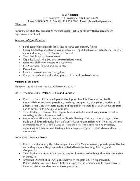 Pastor Resume by Great Resumes Xpastor 174