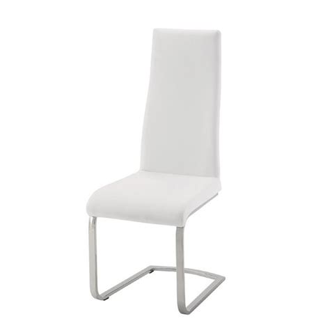 bowery hill contemporary faux leather dining chair in