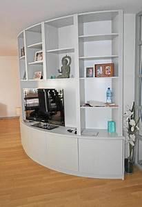 Meuble Tv Arrondi : biblioth que arrondie pour salon design paperblog ~ Teatrodelosmanantiales.com Idées de Décoration