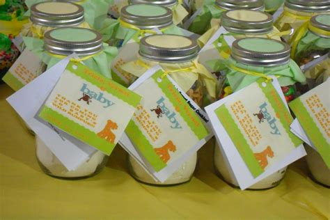 Mason Jar Baby Shower Favor Ideas