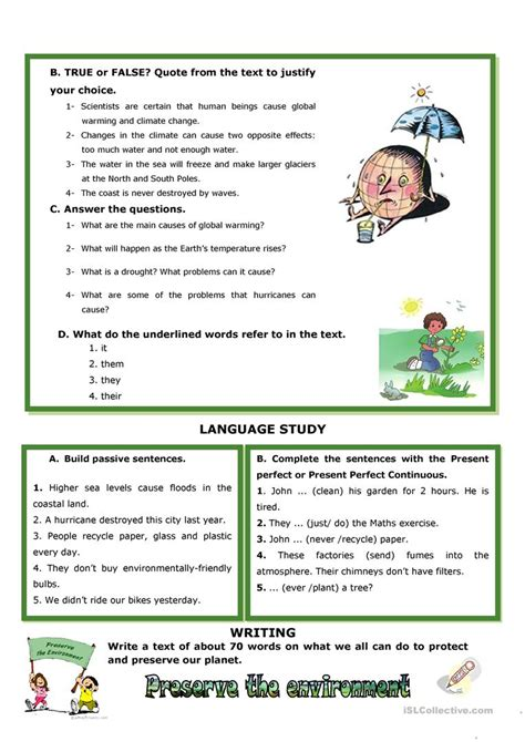 Climate Change Calamities Worksheet  Free Esl Printable Worksheets Made By Teachers