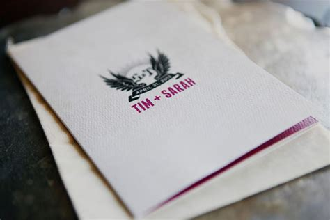 sarah tims rock  roll wedding invites invitation crush