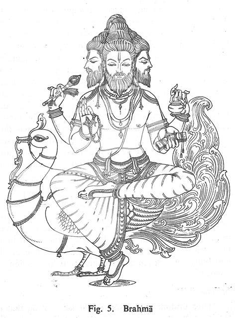 Brahma | Goddess artwork, Hindu art, Indian folk art