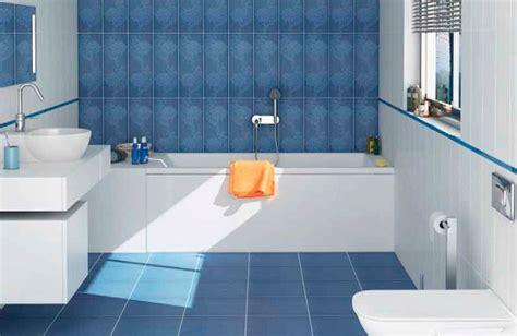 Astounding Design Blue Bathroom Floor Tile Layout