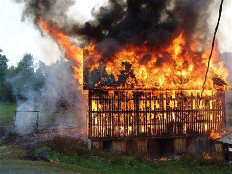 Barn, Fire, Flames, Smoke, Burning