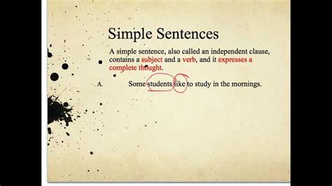 simple compound  complex sentences youtube