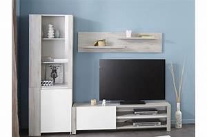 Meuble Design Tv Mural : meuble tv mural design bois et laque blanche ~ Teatrodelosmanantiales.com Idées de Décoration