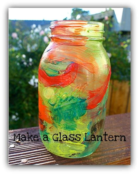 crafts to make with glass jars mason jar craft for kids painted lantern buggy and buddy