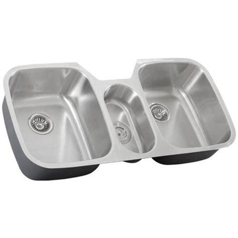 43 Inch Stainless Steel Undermount Triple Bowl Kitchen