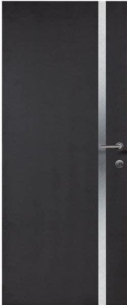 porte interieure contemporaine mdf noir insert alu vernis