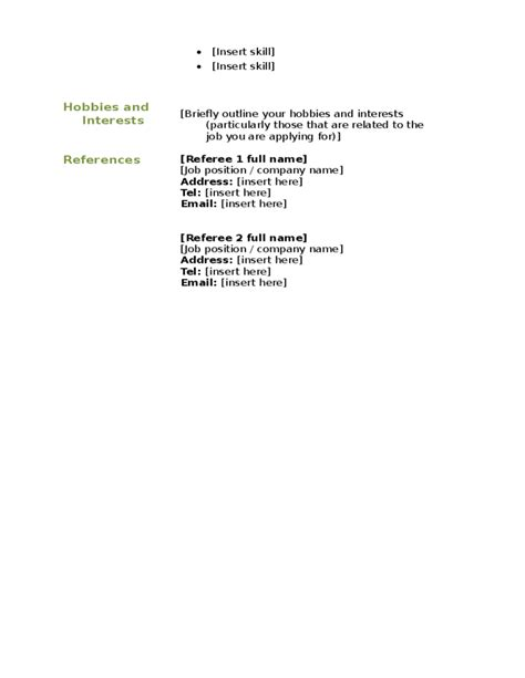 12892 blank basic resume templates basic blank cv resume template free