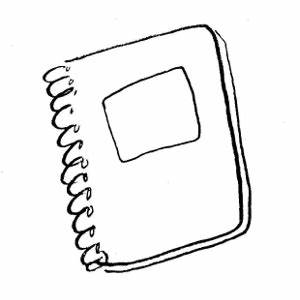 Drawing clipart notebook - Pencil and in color drawing ...