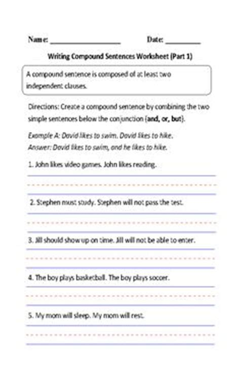Simple And Compound Sentences Worksheet  Englishlinxcom Board  Pinterest  Simple And