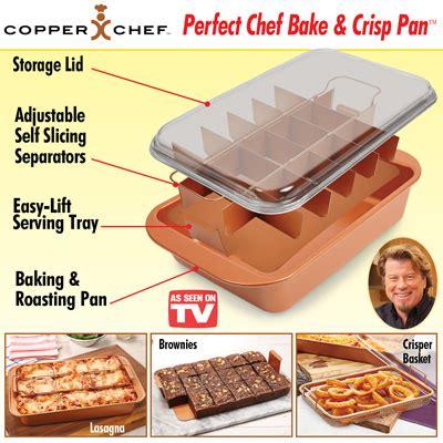 copper chef bake crisp pan set  collections