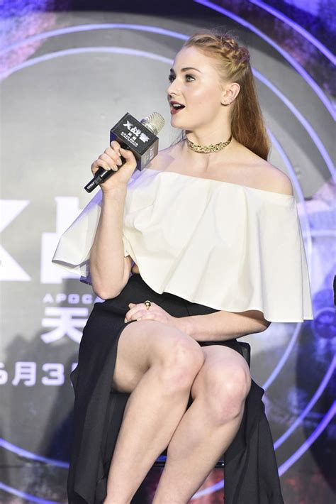 SOPHIE TURNER at 'X-men: Apocalypse' Press Conference in ...