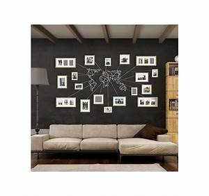 Deco Murale Blanche : d coration murale m tal carte du monde blanche artwall and co ~ Teatrodelosmanantiales.com Idées de Décoration