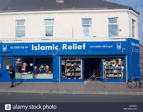islamic relief charity shop city road cardiff wales uk