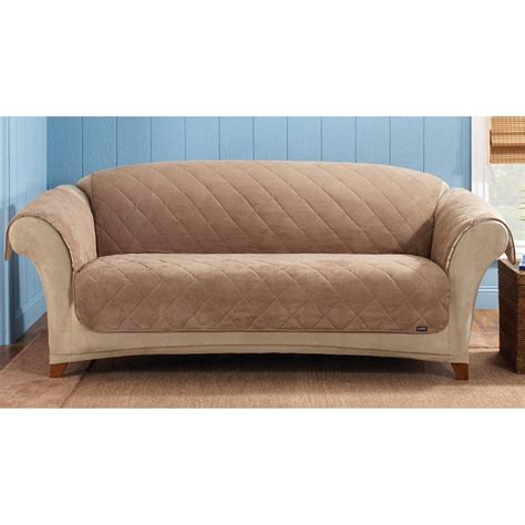 sure fit 174 reversible suede sherpa sofa pet cover 292849 furniture covers at sportsman s guide