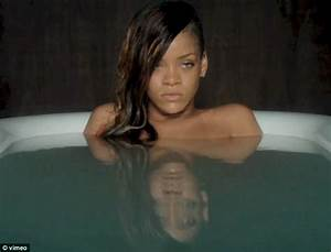 Rihanna strips off for an emotional soak in the bath in for Girl strips in bathroom