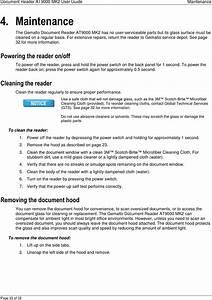 Gemalto Pr01517 At9000 Mk2 Full Page Reader User Manual Manual