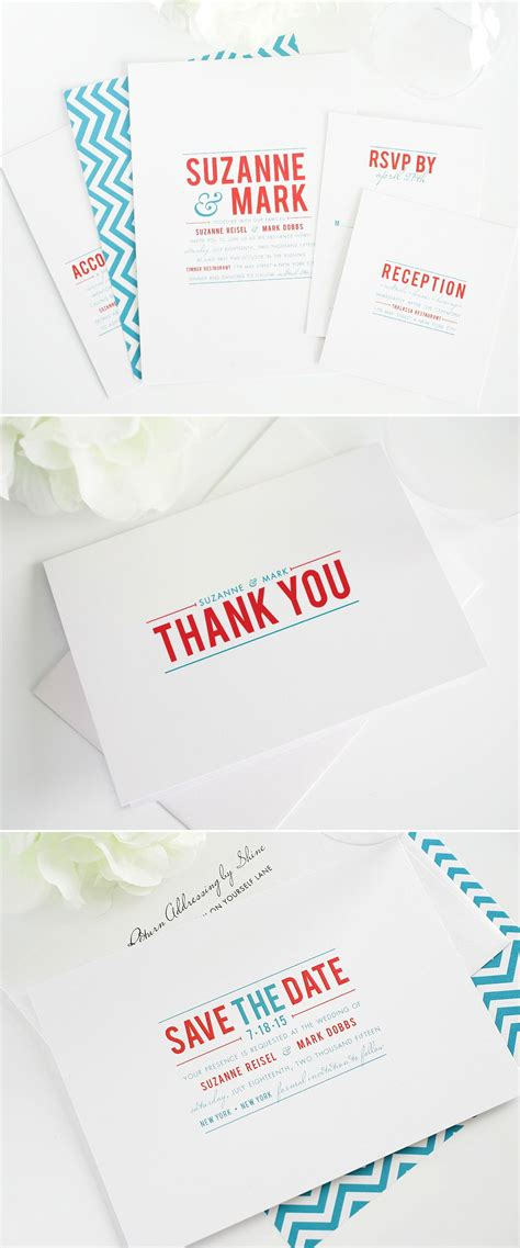 Contemporary Stack Wedding Invitations in 2020 Wedding