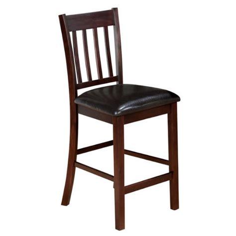 jofran slat back counter height stool in tessa chianti