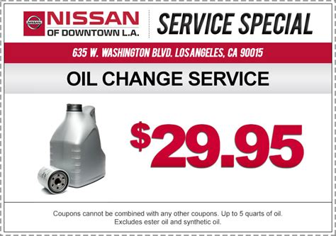 51870 Nissan Of Coupons by Take A Look At Our Nissan Service Specials