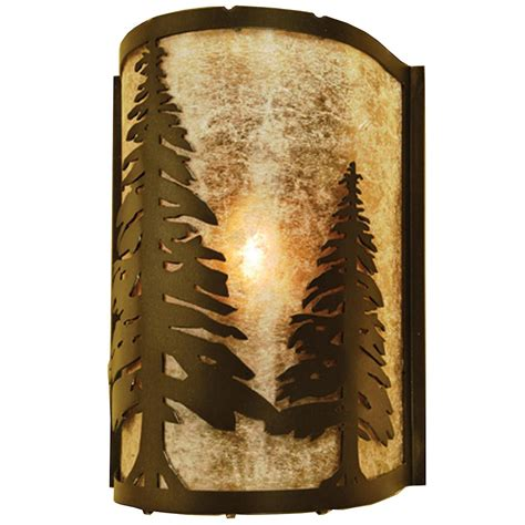 pine trees wall sconce cabin place
