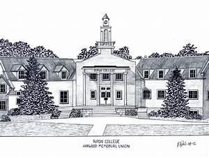 Ripon College Drawing by Frederic Kohli