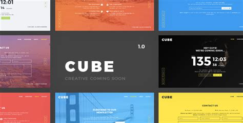 Cube Template Theme Forest by Cube Creative Coming Soon Template By Awedoostudio