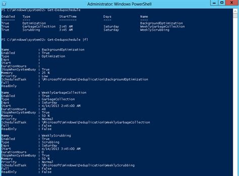 powershell  install  configure deduplication