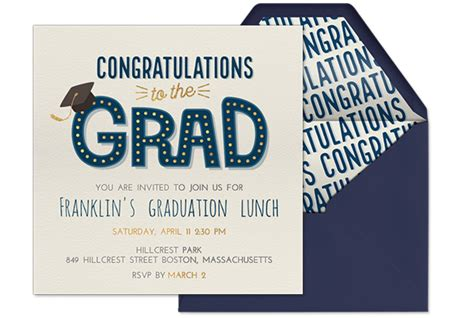 Evites Graduation Party