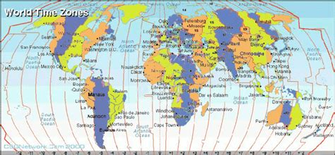 timezone map world travel information timezone map