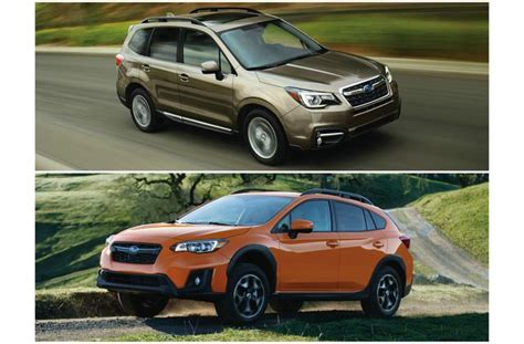 2018 Subaru Forester Vs. 2018 Subaru Crosstrek