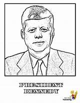 Coloring Presidents President Pages Kennedy Jfk Yescoloring Printables Usa Prestigious America Patriotic Boys American sketch template