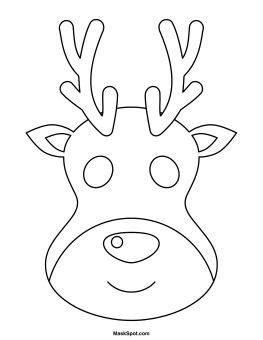 reindeer mask  color reindeer face kindergarten