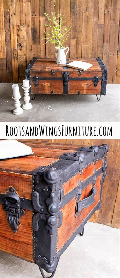 Trunk Furniture Table Coffee Steamer Wings Roots