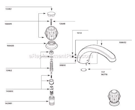 moen tub  shower faucet  ereplacementpartscom