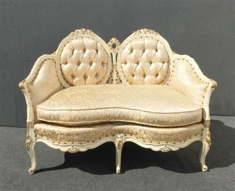 Provincial Settee by Custom Vintage Provincial Ornate Louis Xv Tufted