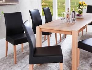 Stühle Esszimmer Schwarz : essgruppe kernbuche tisch georg 2xl 140 220 x80 6 st hle ~ Michelbontemps.com Haus und Dekorationen