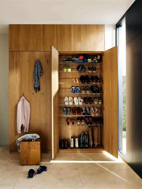 wooden wardrobe  shoes rack integrated small