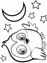 Owl Coloring Pages Animals Printable sketch template