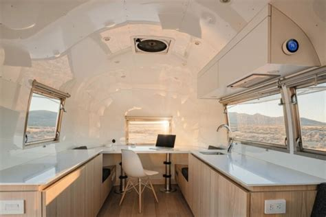rare bambi airstream turned   sq ft mobile office