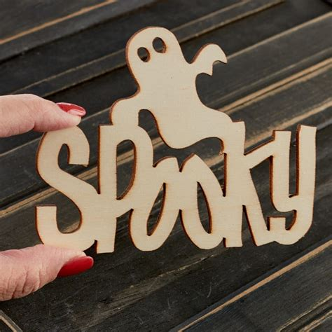 spooky halloween unfinished wood cutout wood cutouts