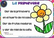 Poesías infantiles de la primavera – Imagenes Educativas